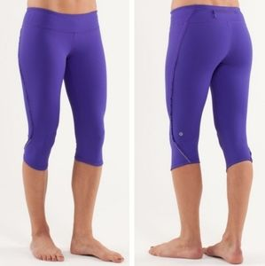 Lululemon Run Fast and Free Ruffle Crop Leggings